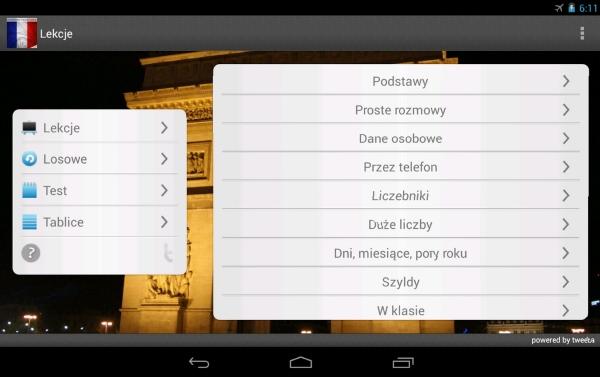 Francuski aplikacja mobilna