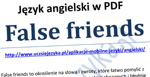 Angielski False Friends